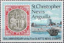 [The 70th Anniversary of the First St. Kitts and Nevis Stamps, Typ EF]
