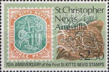[The 70th Anniversary of the First St. Kitts and Nevis Stamps, Typ EH]