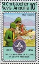[The 50th Anniversary of St. Kitts - Nevis Scouts Association, Typ IA]