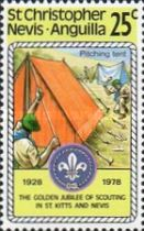 [The 50th Anniversary of St. Kitts - Nevis Scouts Association, Typ IB]