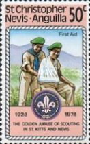 [The 50th Anniversary of St. Kitts - Nevis Scouts Association, Typ ID]