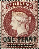 [Queen Victoria - Not Issued Stamps Surcharged, New Perforation, type B18]