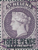 [Queen Victoria - Not Issued Stamps Surcharged, New Perforation, type B20]