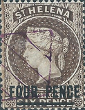 [Queen Victoria - Not Issued Stamps Surcharged, New Perforation, type B21]