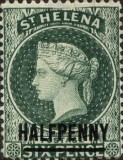 [Queen Victoria - Not Issued Stamps Surcharged. New Watermark, type B26]