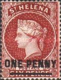 [Queen Victoria - Not Issued Stamps Surcharged. New Watermark, type B29]