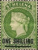 [Queen Victoria - Not Issued Stamps Surcharged. New Watermark, type B35]
