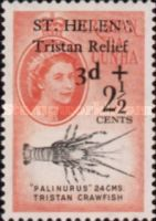 [Tristan Relief Fund - Tristan de Cunha Postage Stamps Surcharged, type BF]