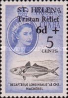[Tristan Relief Fund - Tristan de Cunha Postage Stamps Surcharged, type BG]