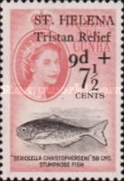 [Tristan Relief Fund - Tristan de Cunha Postage Stamps Surcharged, type BH]