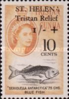 [Tristan Relief Fund - Tristan de Cunha Postage Stamps Surcharged, type BI]