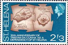 [The 30th Anniversary of Tristan da Cunha as a Dependency of St. Helena, type CU]