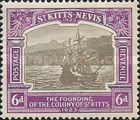 [The 300th Anniversary of the Founding of the Colony of St. Kitts, type G6]
