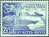 [The 75th Anniversary of Universal Postal Union, type Q]