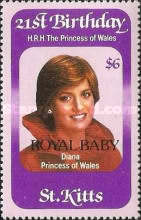 "[Birth of Prince William of Wales - Issues of 1982 Overprinted ""ROYAL BABY"", type BO]"