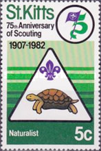 [The 75th Anniversary of Boy Scout Movement, type BP]