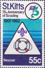[The 75th Anniversary of Boy Scout Movement, type BQ]