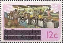 "[Stamps of St. Kitts-Nevis Overprinted ""St Kitts"", type C]"