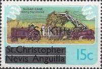 "[Stamps of St. Kitts-Nevis Overprinted ""St Kitts"", type D]"