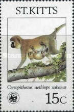 [Endangered Species - Green Monkeys on St. Kitts, type FF]