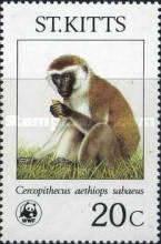 [Endangered Species - Green Monkeys on St. Kitts, type FG]