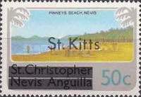 "[Stamps of St. Kitts-Nevis Overprinted ""St Kitts"", type I]"