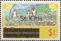 "[Stamps of St. Kitts-Nevis Overprinted ""St Kitts"", type K]"