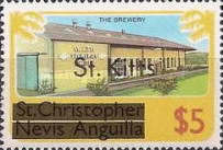 "[Stamps of St. Kitts-Nevis Overprinted ""St Kitts"", type L]"
