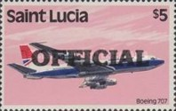 [Transport - St. Lucia Postage Stamp of 1980 Overprinted