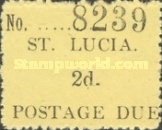 [Postage Due Stamps - Handstamped Serial Number, Typ B]