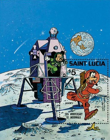 [The 10th Anniversary of Moon Landing 1979 - Disney Characters in Space Scenes, Typ ]