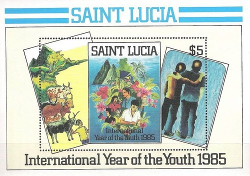 [International Youth Year - Paintings by Young St. Lucians, Typ ]