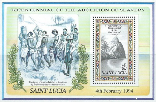 [The 200th Anniversary of the Abolition of Slavery in St. Lucia, Typ ]