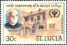 [International Literacy Year - The 100th Anniversary of St. Mary's College, Castries, Typ ABX]