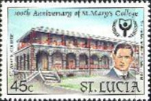 [International Literacy Year - The 100th Anniversary of St. Mary's College, Castries, Typ ABY]