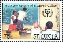 [International Literacy Year - The 100th Anniversary of St. Mary's College, Castries, Typ ABZ]