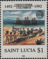 [Organization of East Caribbean States - The 500th Anniversary of Discovery of America by Columbus, Typ ADA]