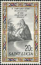 [The 200th Anniversary of the Abolition of Slavery in St. Lucia, Typ ADR]