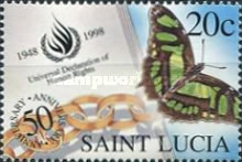 [The 50th Anniversary of Universal Declaration of Human Rights - Butterflies, Typ AGW]
