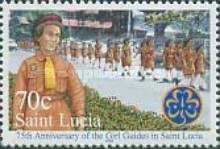 [The 75th Anniversary of Girl Guides in St. Lucia, Typ AIE]