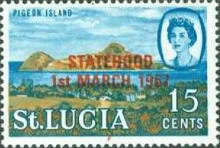 [Statehood - Issues of 1964 and 1969 Overprinted