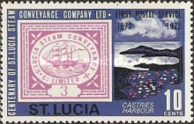 [The 100th Anniversary of First Postal Service by St. Lucia Steam Conveyance Company Ltd., Typ EC]