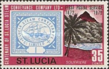 [The 100th Anniversary of First Postal Service by St. Lucia Steam Conveyance Company Ltd., Typ ED]