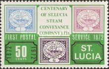 [The 100th Anniversary of First Postal Service by St. Lucia Steam Conveyance Company Ltd., Typ EE]