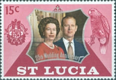 [The 25th Anniversary of the Wedding of Queen Elizabeth II and Prince Philip, Typ EG]