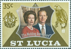 [The 25th Anniversary of the Wedding of Queen Elizabeth II and Prince Philip, Typ EG1]