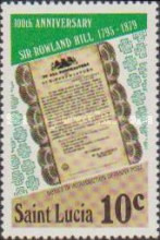 [The 100th Anniversary of the Death of Sir Rowland Hill, 1795-1879, Typ JP]