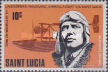 [The 50th Anniversary of Lindbergh's Inaugural Airmail Flight via St. Lucia, Typ JY]