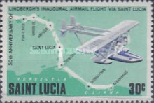 [The 50th Anniversary of Lindbergh's Inaugural Airmail Flight via St. Lucia, Typ JZ]