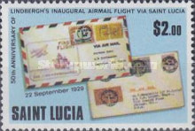 [The 50th Anniversary of Lindbergh's Inaugural Airmail Flight via St. Lucia, Typ KB]